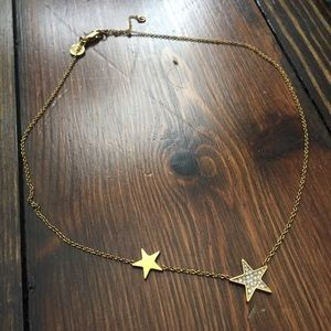 ⭐️✨Michael Kors gold  diamond star choker necklace